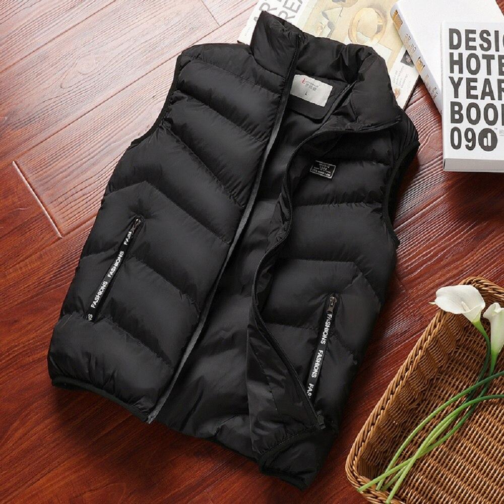 2021, модная мужская куртка, жилет без рукавов, весенняя, зеленая, повседневная куртка, Мужской Хлопковый жилет, мужской утепленный жилет