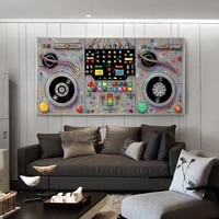 abstract music controller canvas painting modern musical instrument graffiti poster and print picure for living room bar decor