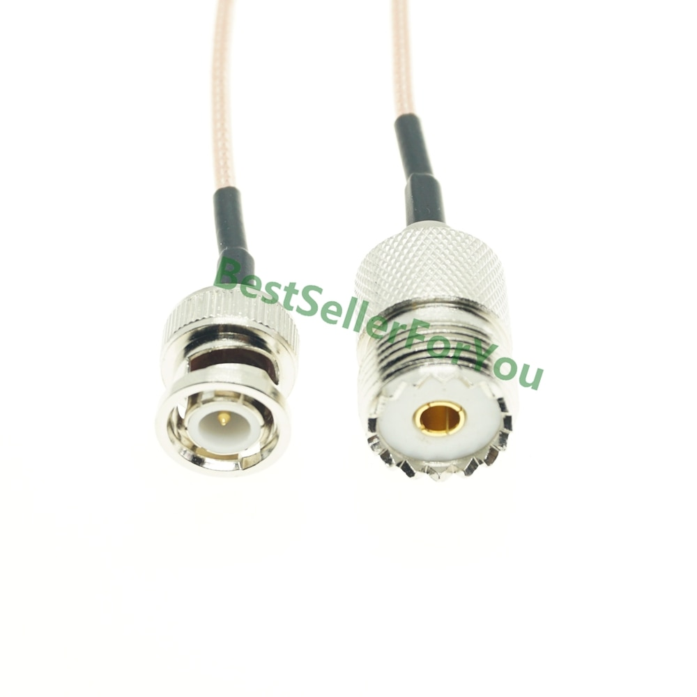 RG316 Cable BNC macho Q9 a UHF hembra SO239 SO-239 hembra Jack...