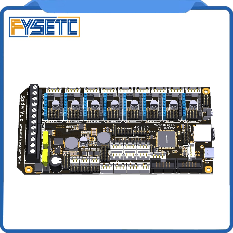 3dsway 3d printer motherboard lerdge k arm 32bit controller board with 3 5 touch screen diy parts wifi control mainboard FYSETC Spider V1.1 Motherboard 32Bit Controller Board TMC2208 TMC2209 3D printer Part Replace SKR V1.3 For Voron