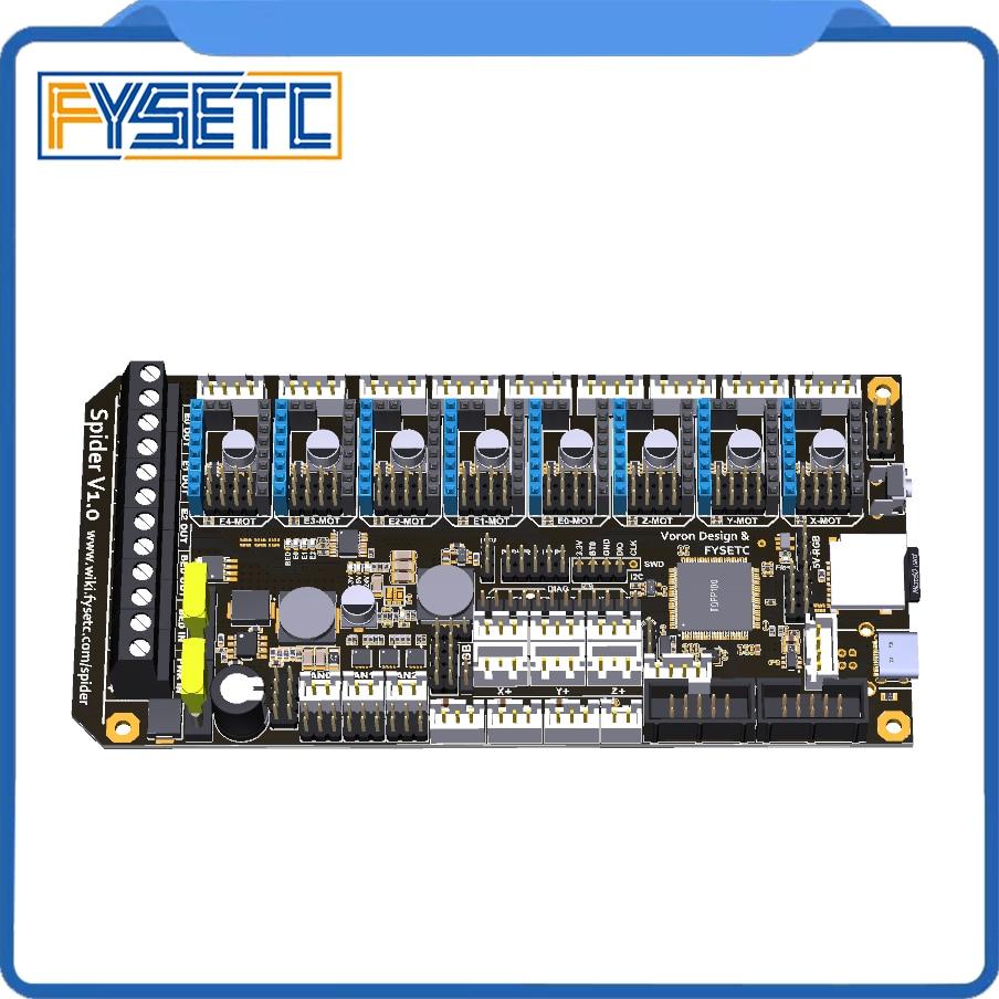 pre-sale-fysetc-spider-v10-motherboard-32bit-controller-board-tmc2208-tmc2209-3d-printer-part-replace-skr-v13-for-voron