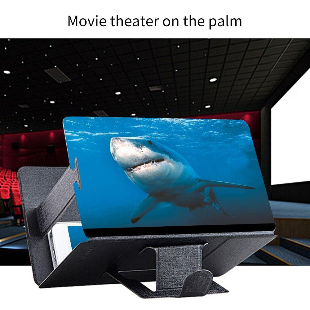 Lupa Universal de pantalla de teléfono móvil de escritorio Ampliador 3D amplificador de vídeo de aumento Soporte de proyector soporte para teléfono