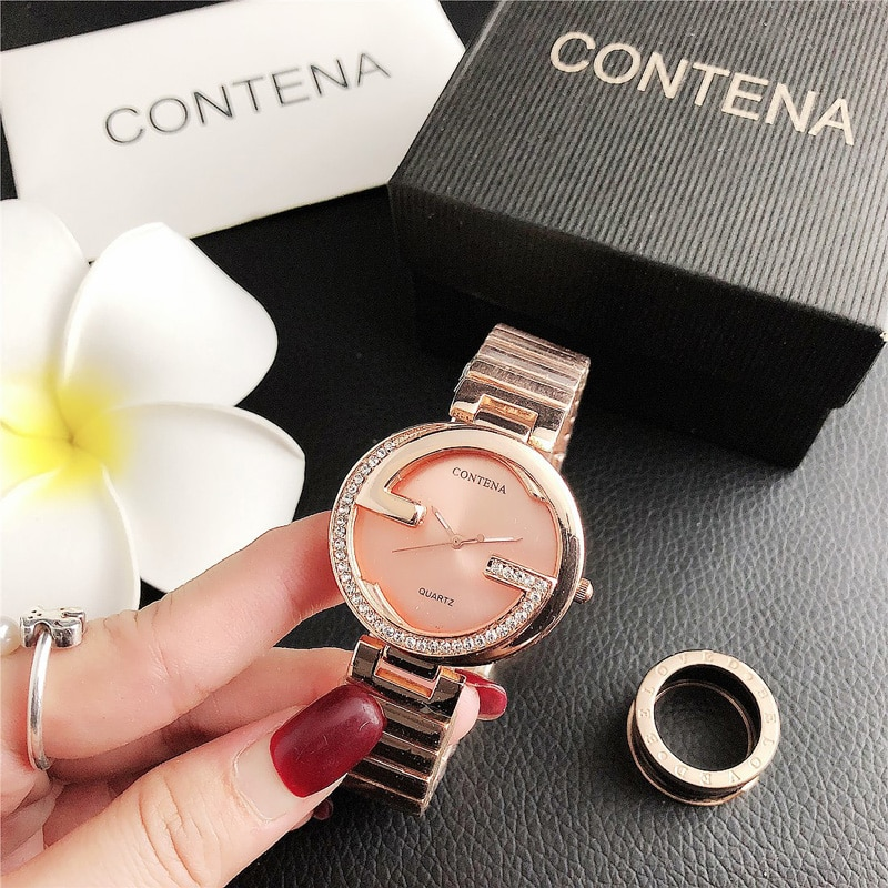 YUNAO 2021 Fashion Hot-Selling Watch Ladies Quartz Watch Hot-Selling Net Red Watch Stainless Steel Casual Noble Watch Clock enlarge