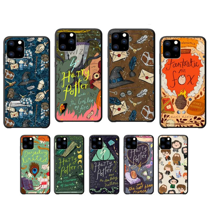 Harries Potter de silicona caso Coque para Iphone Se 2020 6s 6 7 8 Plus X Xs X Max Xr 11 12 Pro Max cubierta