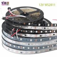 Светодиодный ная Пиксельная лента WS2811 5050 с полным спектром, Гибкая Rgb полоска с индивидуальным управлением светодиодами, цифровая светодио...
