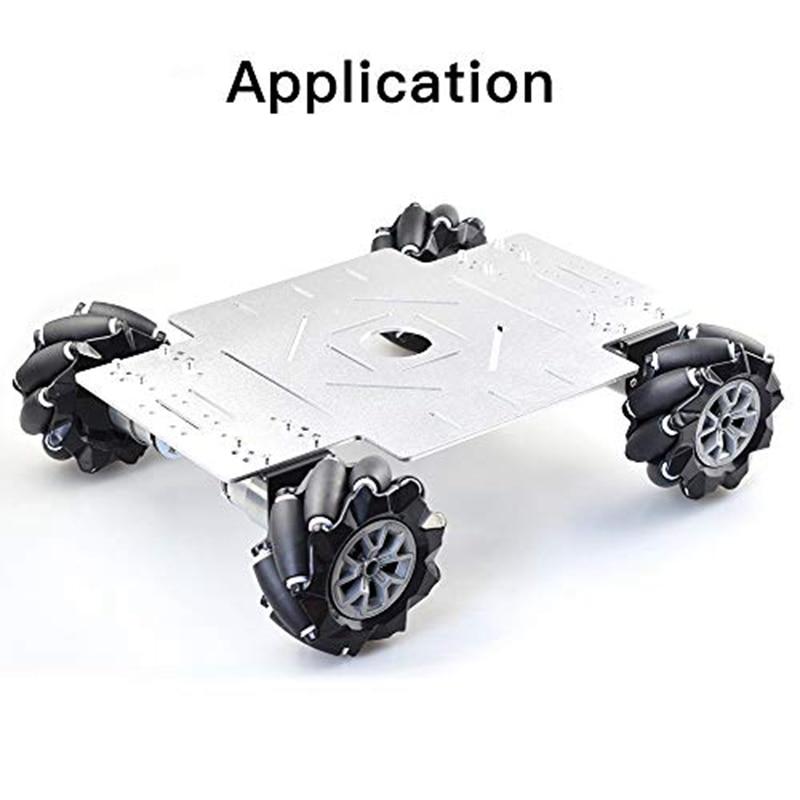 15 كجم تحميل 96 مللي متر أومني Mecanum عجلة مع 6 مللي متر TT محاور لاردوينو التوت بي DIY الجذعية روبوت شاسيه السيارة لعبة أجزاء