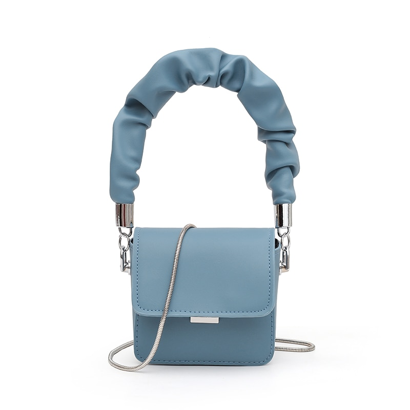 MINI PU Leather Shoulder Bags for Women 2021 Chain Design Luxury Hand Bag Female Travel Bags and Pur