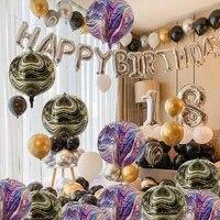 1pcs 22inch texture balloon round corrugated agate helium balloon birthday wedding party decoration baby shower gift supplies