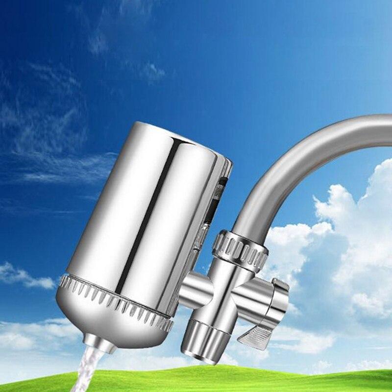 Filtro de agua para grifo, piedra Mineral, purificador de agua para grifo de cocina, filtro de agua, eliminación de óxido, filtro lavable