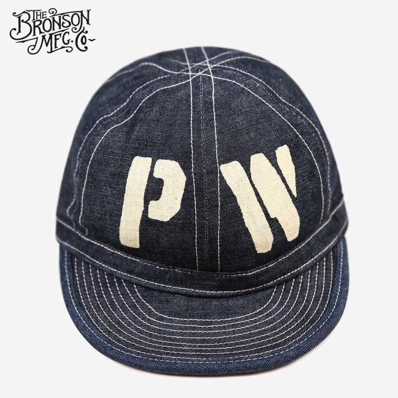 برونسون الاستنساخ خمر WW2 CCC PW الدنيم قبعة سجين الحرب جان العمل قبعة