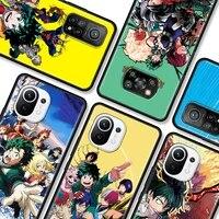 phone case for xiaomi pocophone f1 poco x3 nfc x3 gt x3 pro m3 pro 5g f3 gt soft cover back funda capa my hero academia
