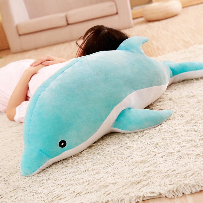Dolphin Plush Toys Stuffed Sea Animal Cute Girls Dolls Soft Baby Sleeping Pillow Christmas Birthday Gift  - buy with discount