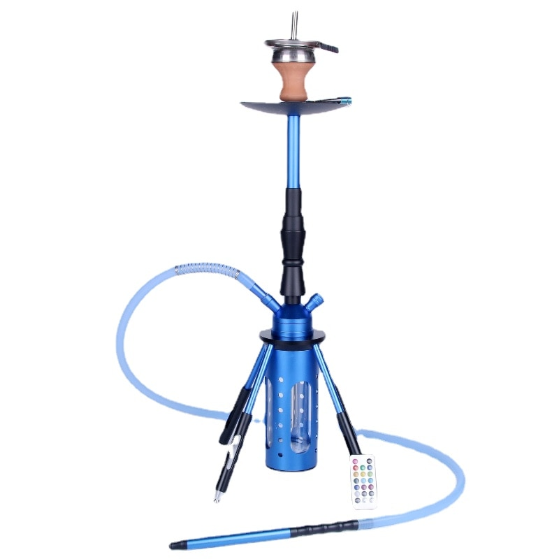 Rocket Shisha Hookah Narguile Complete with LED Remote Control Hookah Bowl Light Metal Diffuser Cachimba Smoking Accessories enlarge