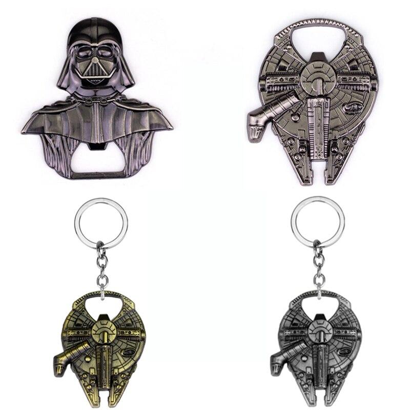 Halcón Milenario de Star Wars abrebotellas de cerveza accesorios aleación nave espacial Star Wars Darth Vader abrebotellas llavero regalo