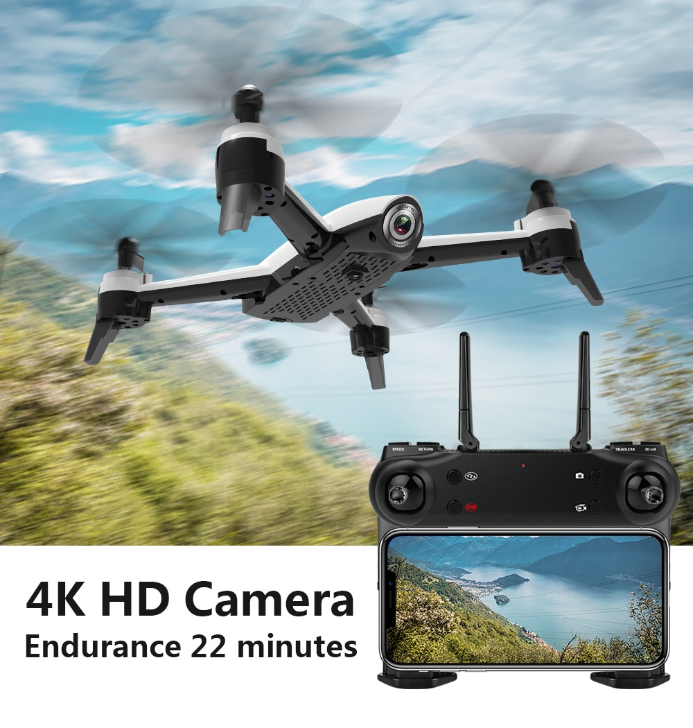 SG106 WiFi FPV RC Drone 4K Camera Optical Flow 1080P HD Dual Real Time Aerial Video Wide Angle Quadcopter Aircraft Dron enlarge