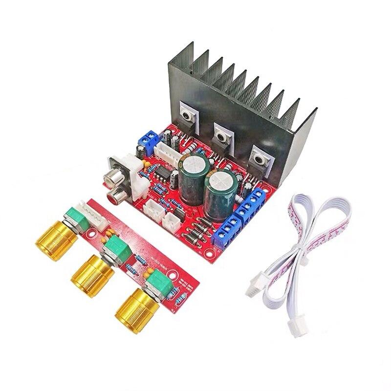 2*18 w + 30 w tda2030a 2.1 canais amplificadores de controle de tom de áudio amplificador de potência placa amplificador estéreo