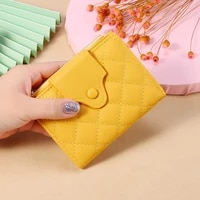 2021 new korean version women short folding wallet large capacity solid color fashion ladies mini purse multi card site clutch