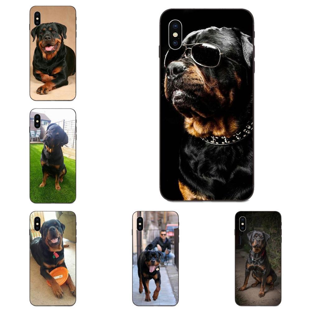 Dibujo TPU para Huawei nova 2 2S 3i 4 4e 5i Y3 Y5 II Y6 Y7 Y9 Lite Plus primer Pro 2017 de 2018 de 2019 Rottweiler Rottie Rotty perro