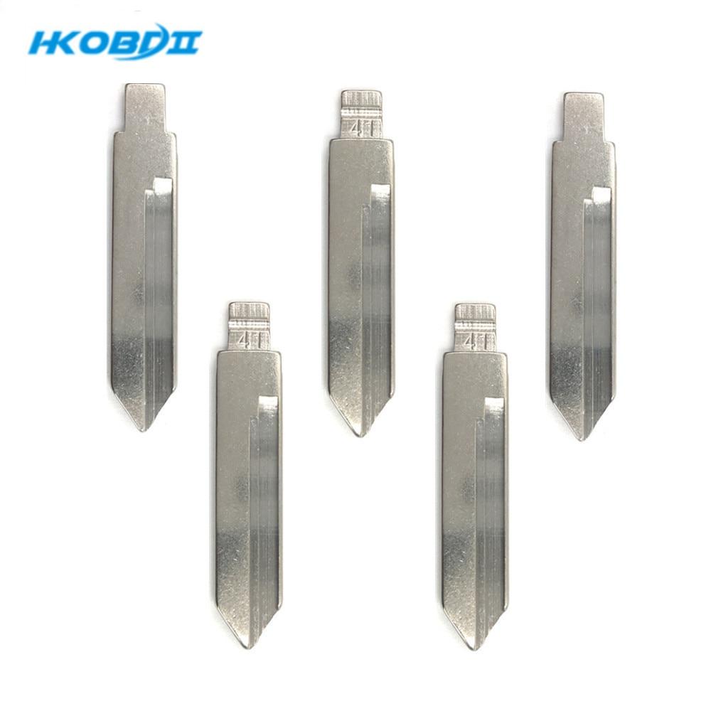 Hkobdii #41 para trumpchi metal em branco sem corte flip kd tipo chave remota