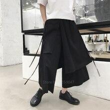Sarouel japonais homme Vintage pantalon de jogging ample Haori pantalon croisé entrejambe pantalon jambe large Costume samouraï grande taille