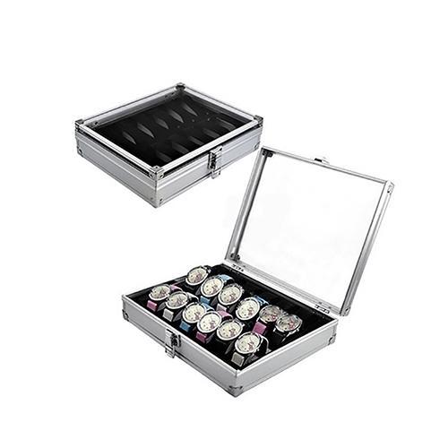 6-12-Сетка-Слоты-ювелирные-часы-Дисплей-Коробка-для-хранения-алюминиевый-чехол-кольцо-держатель-часы-стекло-топ-ювелирных-изделий-Органайзе