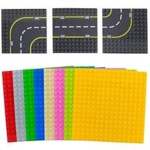 Big Size Blocks Base Plate Duploed BasePlate Large Particle Building Block Road 12*12 16*16 Dots DIY Bricks Floor Kids Toys Gift