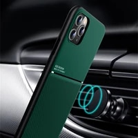 luxury leather phone case for iphone 11 pro max 12 x xs max xr 7 8 6 6s plus se 2020 ultra thin magnetic car plate back cover