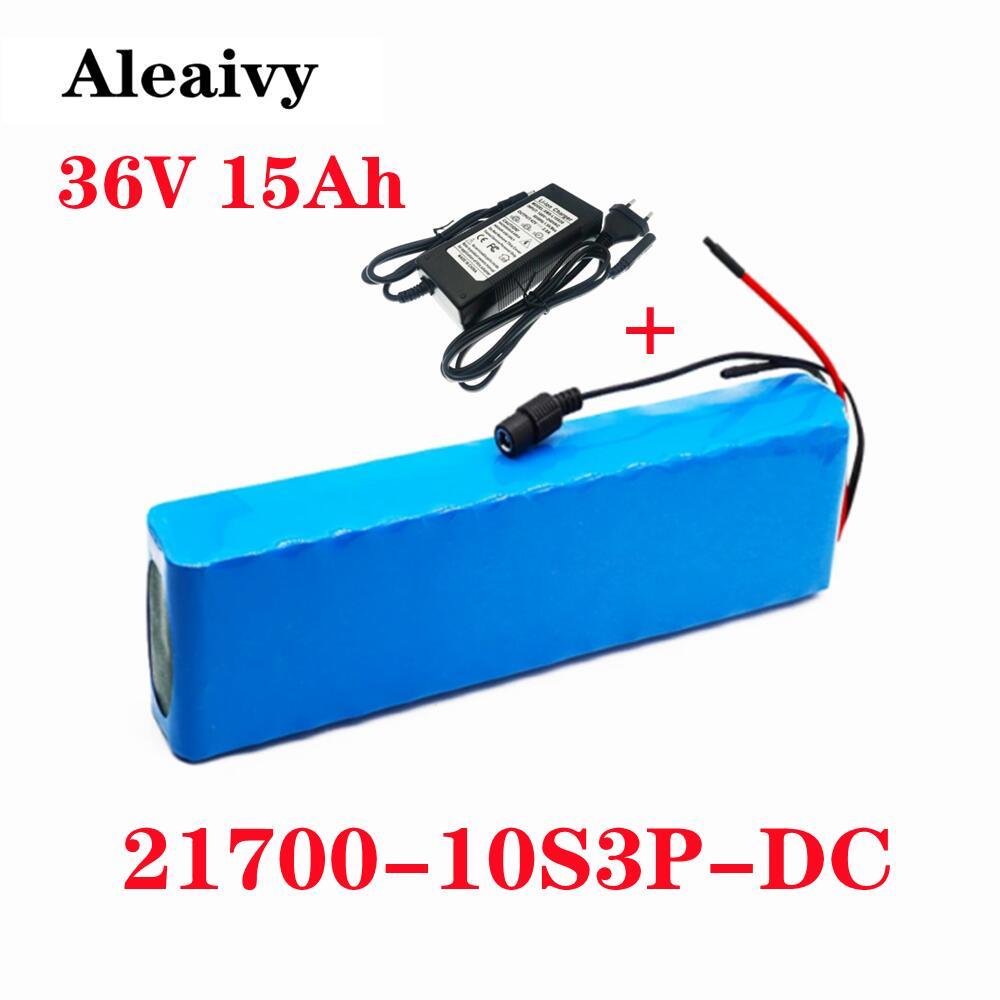 Aleaivy 36 فولت بطارية 10S3P 15Ah 42 فولت 21700 بطارية أيون الليثيوم حزمة ل ebike سيارة كهربائية دراجة سكوتر مزود بمحرك مع 20A BMS 500 واط