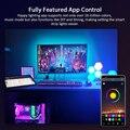 Suntech светодиодный светильник полоски, Bluetooth Синхронизация музыки Цвет Гибкая RGB 5050 Диодная лента, светодиодный светильник с встроенным микрофоном для вечерние, Рождество
