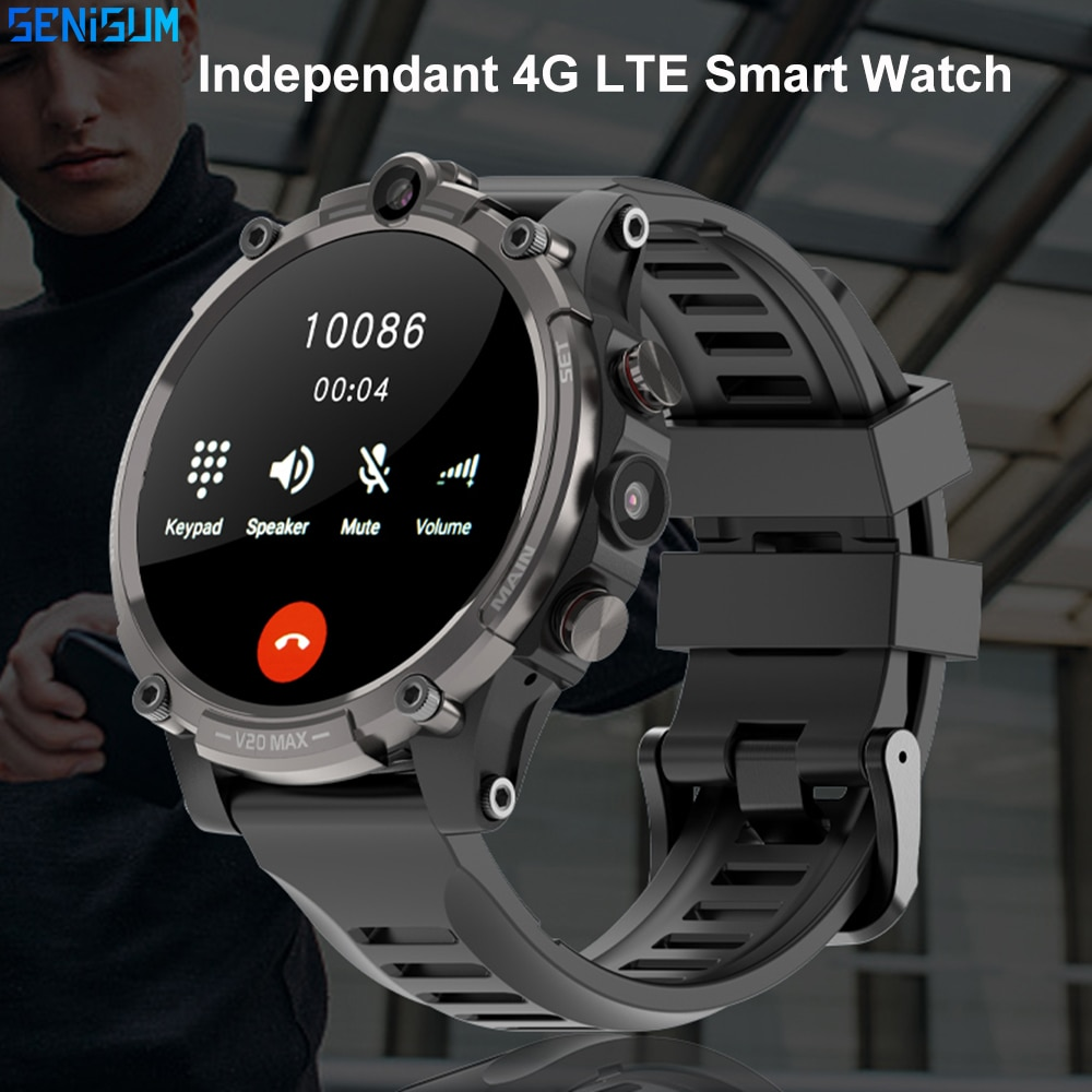 Promo New 128GB Memory 4G Smart Watch Men Sport Watch Dual Camera GPS Sim Card Blood Pressure Android Smartwatch For IOS Huawei Xiaomi