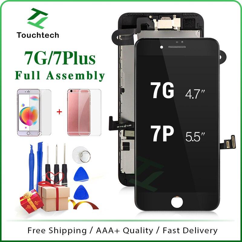 Calidad completa AAA Pantalla clon para iPhone 7 7 Plus Pantalla LCD con recambio de conjunto de Pantalla táctil Blanco/negro