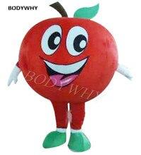 Publicité fruits boutique rouge pomme fruits mascotte Costume adultes déguisement fête danniversaire Cosplay extérieur événement tenue