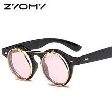 Q Men Women Shades Round Gafas Photochromic Eyewear New Fashion Retro Sunglasses Brand Designer Gogg