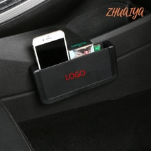 Support de conteneur pour téléphone   Boîte de rangement de voiture pour logo Mitsubishi outlander 3 lancer 10 pajero 4 asx l200