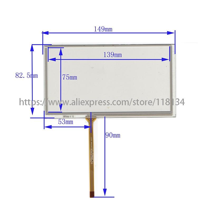 Panel digitalizador de pantalla táctil resistente para alpine ive-w530bt, 6,1 pulgadas, 4...