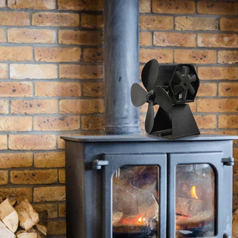 Вентилятор для камина Log Burner вентилятор тепловая мощность вентилятор для камина камин тепловой четырехстраничный вентилятор деревянный ве...