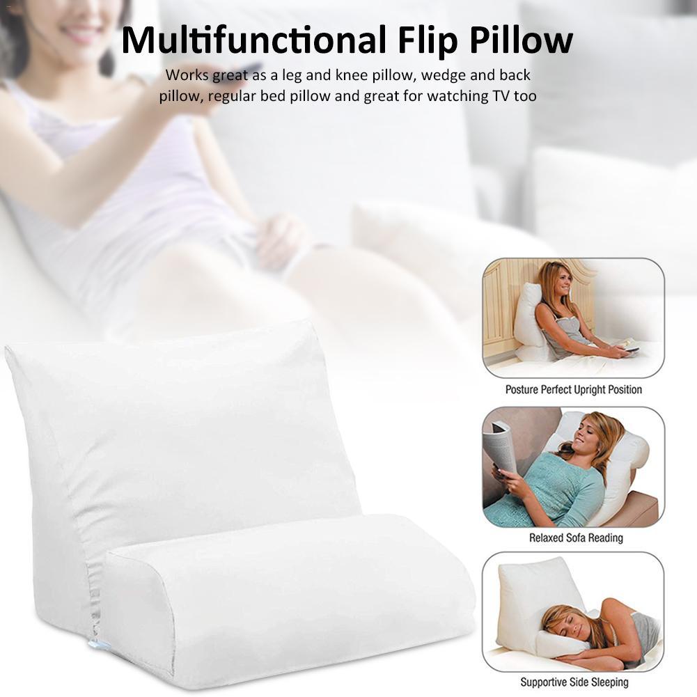 Funda de almohada suave con tapa multifuncional para sofá de memoria cama de cuña almohada de espuma de memoria para patas traseras suministros de oficina en casa