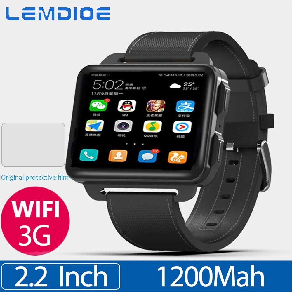 LEM4 Pro 2,2 Zoll Bildschirm 3G Smart Uhr Android 5.1 GPS WIFI 1GB + 16GB 1200Mah Große batterie Bluetooth Smartwatch Für Männer Frauen