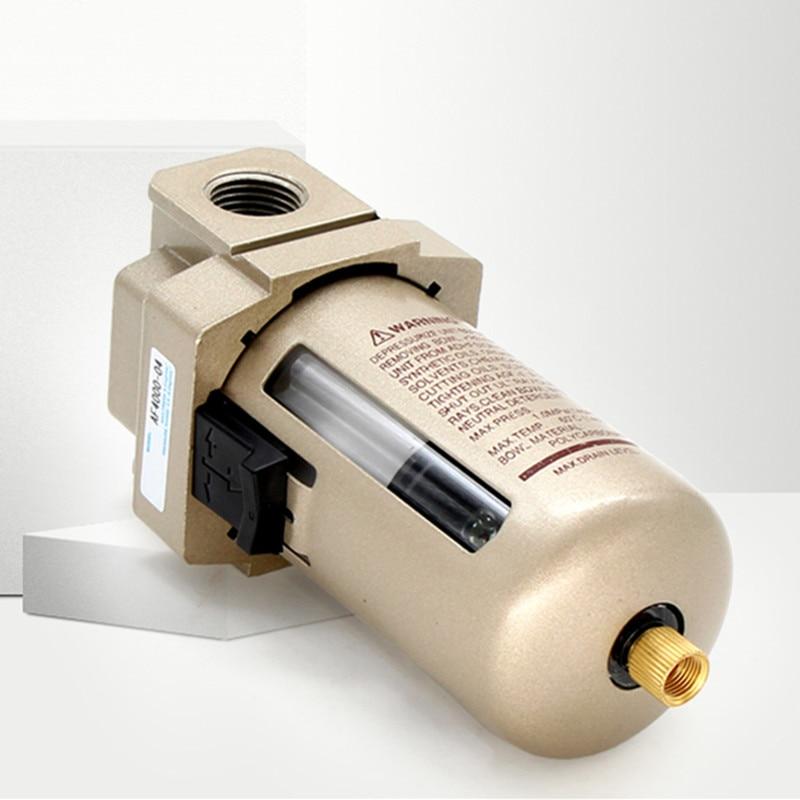 AF4000-04 G1/2 AF4000-06 G3/4, bomba con procesador de filtro de aire comprimido, separador de agua y aceite, fuente de aire de cobre, unidades de tratamiento FRL