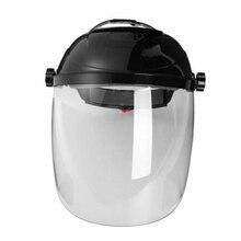 Capuchon de Protection bouclier Transparent Anti-UV demi-casque Anti-choc casque de soudage domestique pour protéger les yeux et le visage TB