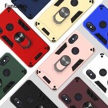 Support danneau de voiture PC + protection en TPU pour armure Redmi 5 Plus téléphone Mobile sFor Coque Xiaomi Redmi Note cellulaire 5 Pro 5A Movil