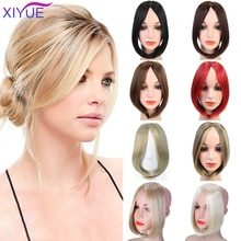 XIYUE Fringe Clip In Hair Bangs Hairpiece Clip In Hair Extensions Heat Resistant Synthetic Fake Bangs Hair Piece Hair Pad/Bangs