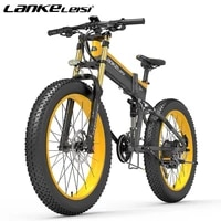 lankeleisi new upgrade double shoulder front fork 750plus 48v 1000w 14 5ah lithium battery fat tire mountain electric bicycle