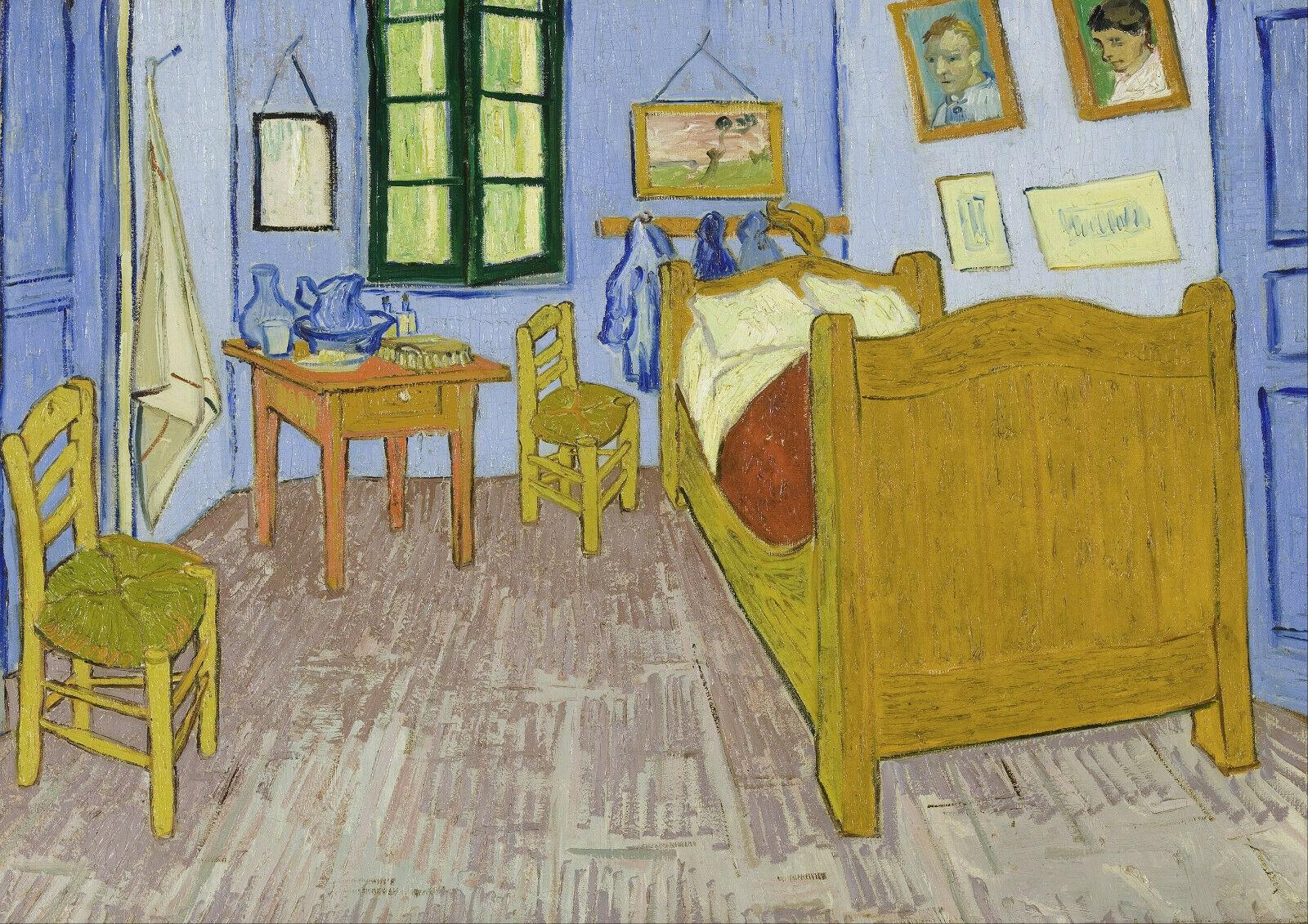 Vincent van Gogh-pinturas al óleo sobre lienzo para dormitorio, impresiones, arte de...