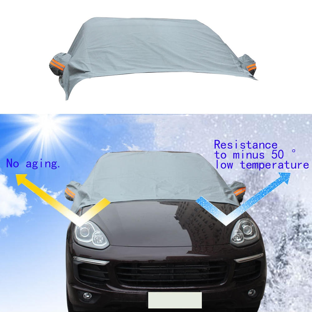 Universal Gray SUV Front Glass Sun Block Sun Protection Half-Car Cover General Winter Snow-Proof Frost-Proof