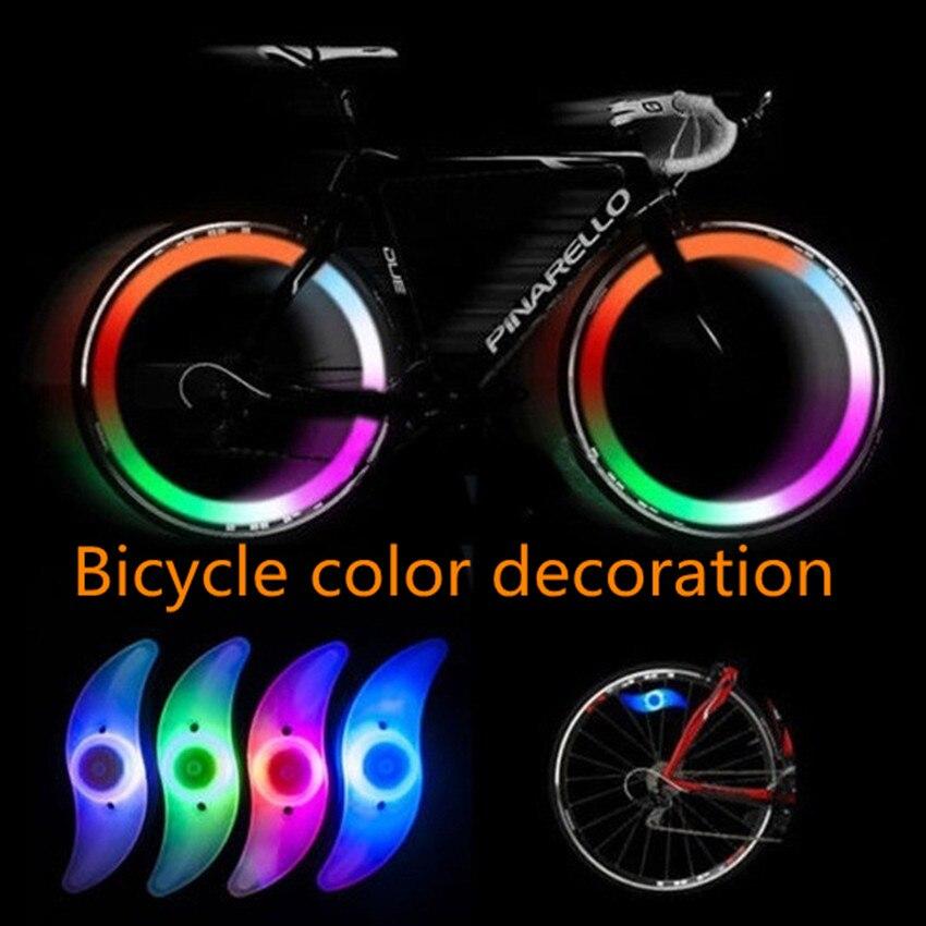 Светодиодный Красочные велосипедные фонари Горный Дорожный велосипед свет велосипед спица колесо лампа велосипед Luces светодиодный Bicicleta ...