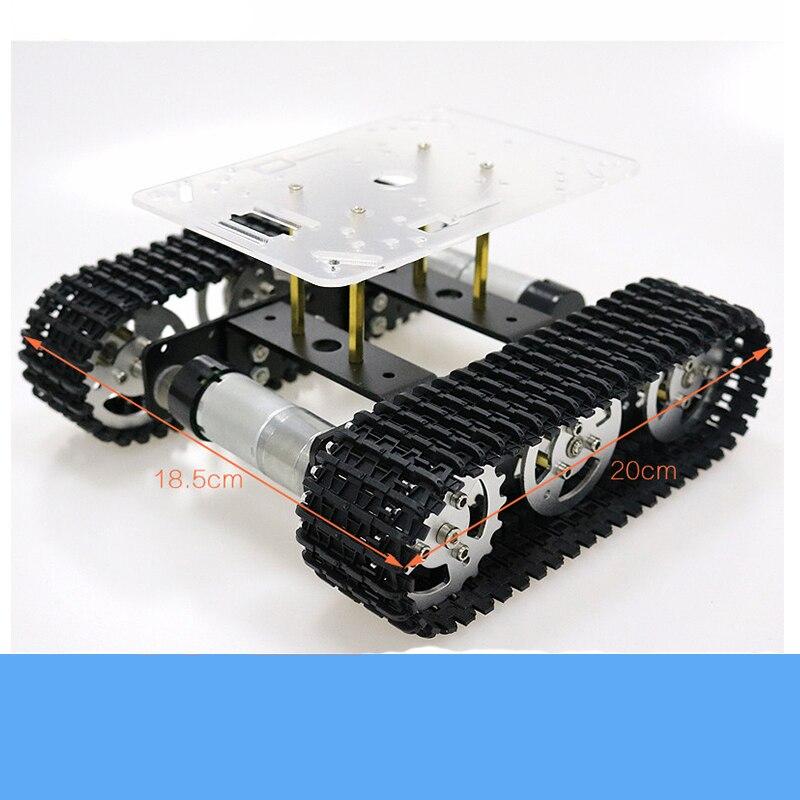 Металлический умный робот-танк на гус�