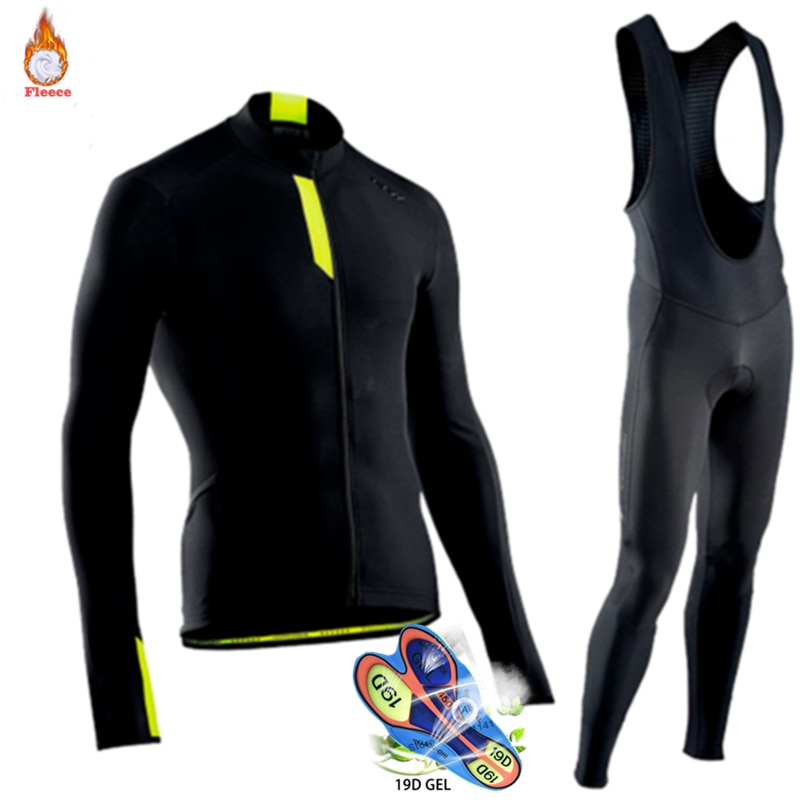 Traje de triatlón para hombre, ropa térmica de lana para ciclismo, Jersey...