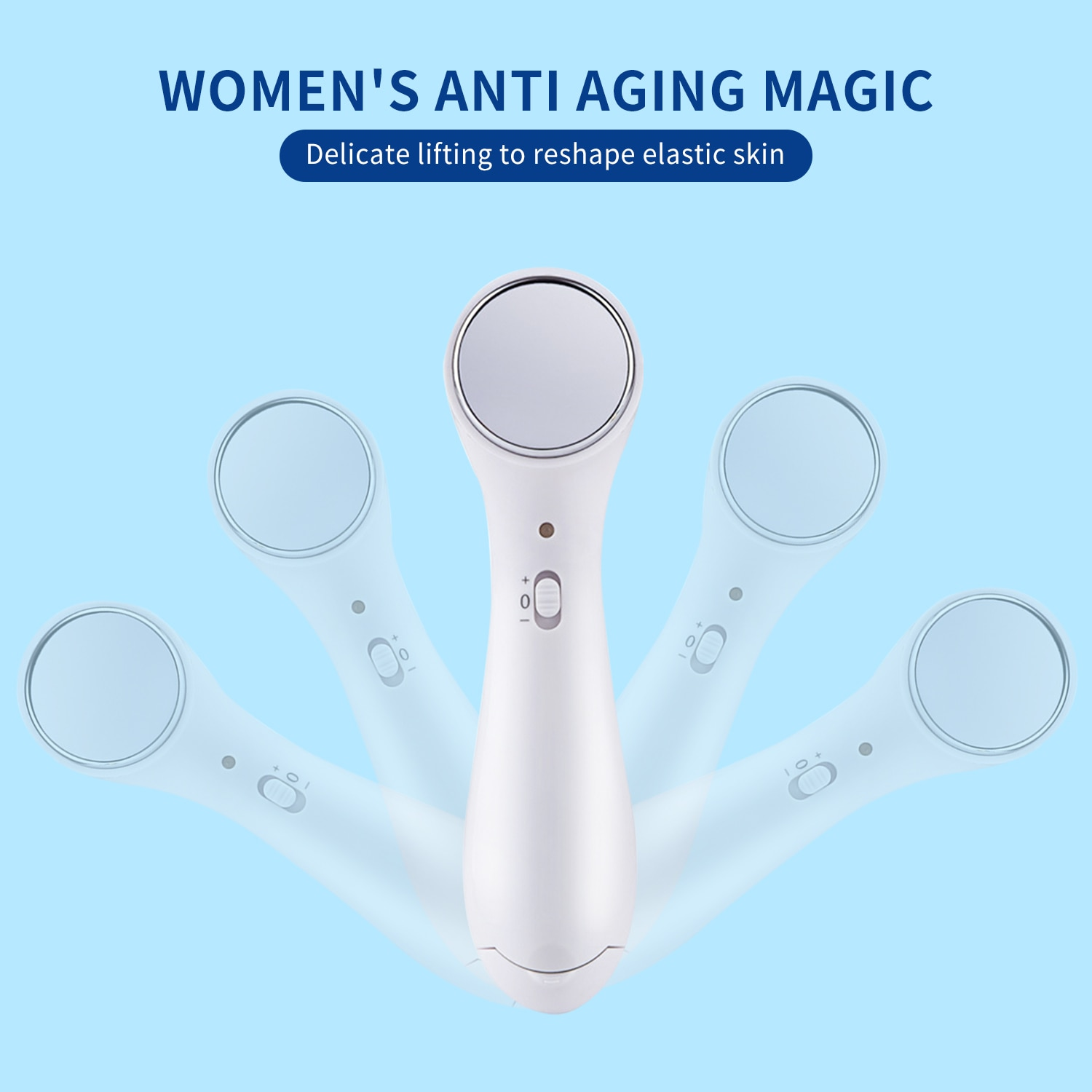 Facial Skin Care RF EMS Beauty Instrument LED Photon Light Therapy Tool Device Face Lifting Tighten ems massager Beauty Machine