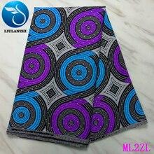 LIULANZHI 100% Polyester Prints Fabric Stones Wax Cloth Ankara 6 yards Fabric Dress Nigerian Wax Polyester ML2ZL52